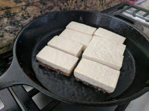 tofu frying 2