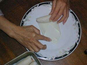 eggroll wrapping 7